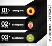healthy food infographics...   Shutterstock .eps vector #263402627