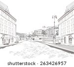 series of street views in the... | Shutterstock .eps vector #263426957