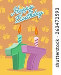happy birthday vector design....
