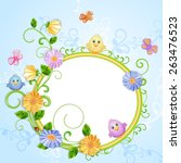 spring illustration with... | Shutterstock .eps vector #263476523