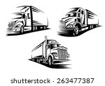 commercial delivery cargo... | Shutterstock .eps vector #263477387