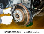 Car Brake Repairing In Garage ...