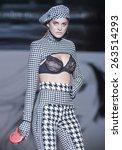 madrid   february 07  a model...   Shutterstock . vector #263514293
