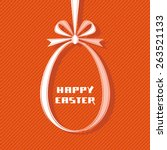 vector easter tag. egg banner...