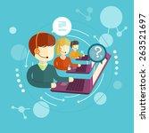 customer service representative ... | Shutterstock . vector #263521697