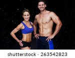 Bodybuilding Couple Against...