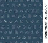 shopping line icon pattern set   Shutterstock .eps vector #263550077