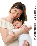picture of happy mother with... | Shutterstock . vector #26358637