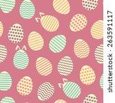 seamless easter egg spring...   Shutterstock .eps vector #263591117