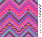 seamless colorful navajo pattern   Shutterstock .eps vector #263606543