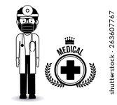 doctor  design over white... | Shutterstock .eps vector #263607767