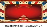 nice vintage circus greeting... | Shutterstock .eps vector #263620427
