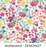 seamless cute flower vector... | Shutterstock .eps vector #263624627