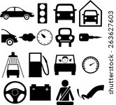 icons for auto | Shutterstock .eps vector #263627603