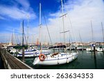 Boats Parking By Marina Under...