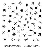 sparkle set with stars  flashes ... | Shutterstock .eps vector #263648393