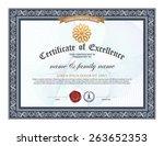 certificate design template  | Shutterstock .eps vector #263652353