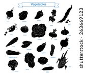 collection of vegetables.... | Shutterstock .eps vector #263669123