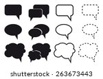 speech bubble icons on white... | Shutterstock .eps vector #263673443