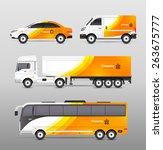 transport advertisement design... | Shutterstock .eps vector #263675777