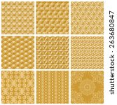 Seamless Gold Patterns  Vector...