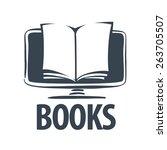 vector logo e book on a... | Shutterstock .eps vector #263705507