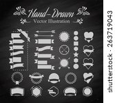 set of vintage vector badge... | Shutterstock .eps vector #263719043