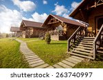 Traditional Wooden Cottages At...