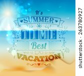 vintage typography summer...   Shutterstock .eps vector #263780927