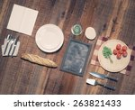 mock up template with cooking... | Shutterstock . vector #263821433