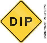 Us Road Warning Sign  Dip