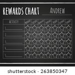 rewards chart on chalk... | Shutterstock .eps vector #263850347