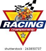 logo racing championship with... | Shutterstock .eps vector #263850737