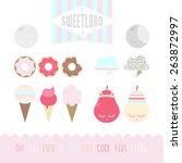 set of cute elements | Shutterstock .eps vector #263872997