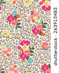 Seamless Cute Flower Mix And...