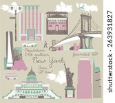 symbols of new york | Shutterstock .eps vector #263931827