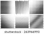 vector halftone. gradient... | Shutterstock .eps vector #263966993