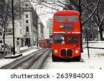 Route Master Bus On A Snowy Da...