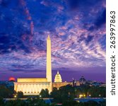 Washington Dc Skyline With...