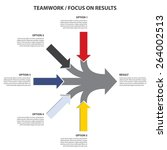 teamwork and focus on results   ... | Shutterstock .eps vector #264002513