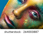 creative make up of colored