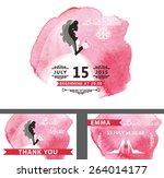 wedding  bridal shower... | Shutterstock .eps vector #264014177