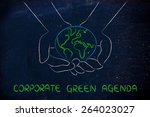 green economy and ecology ... | Shutterstock . vector #264023027
