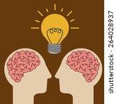big idea design over brown... | Shutterstock .eps vector #264028937