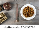 fried penang char kuey teow top ...   Shutterstock . vector #264051287