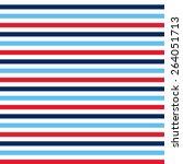 red  blue   white horizontal... | Shutterstock . vector #264051713