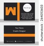 simple modern black orange... | Shutterstock .eps vector #264053603