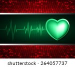 heart pulse monitor with signal....   Shutterstock .eps vector #264057737
