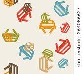seamless background  shopping ... | Shutterstock .eps vector #264086627