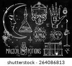 Set Of Trendy Alchemy Symbols...